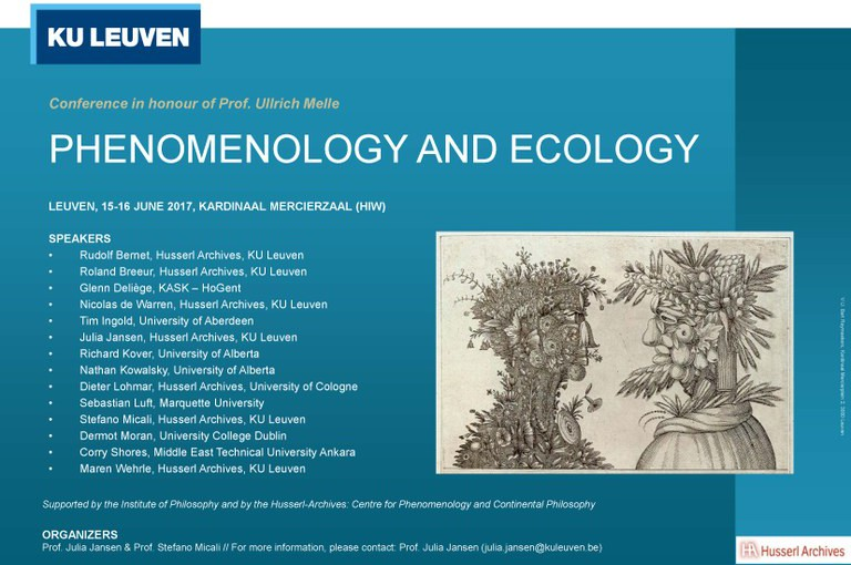 (Tagungsbericht) Phenomenology and Ecology. Conference in Honour of Prof. Ullrich Melle